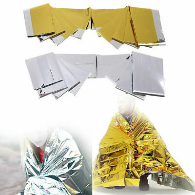 Emergency Blanket Space Thermal First Aid Survival Rescue Waterproof Silver Gold
