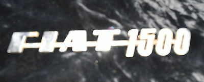 TH-024 - Fiat 1500 Chrome Metal Emblem Original Vintage Automobile