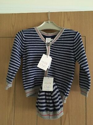 Boots Mini Club Baby Boys Cardigan & Hat Size 9-12 Months.