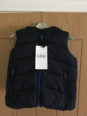 M&S navy Boys/Girls Gillet/Body Warmer/Jacket, age 12-18 months