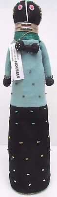 Authentic Ndebele Doll 19'' Beaded Handcrafted From Kwandebele South Africa Blue