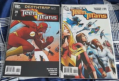 Teen Titans #69 & 70 (May-June 2009, DC) VF-VF/NM