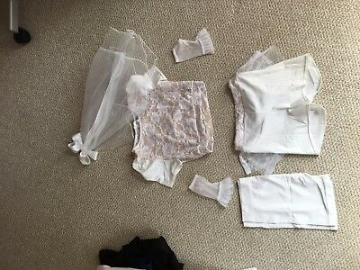 Bridal jazz costume + accessories in size large child by Kelle