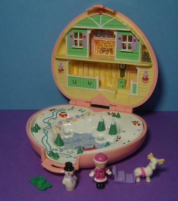 Polly Pocket Mini ♥ Winter Herz ♥ Heidi´s Alpin Chalet ♥ 100% Complete ♥ 1989 ♥