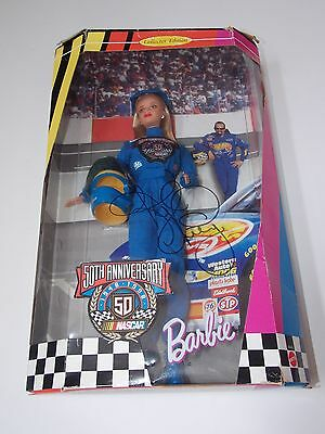 50th Anniversary Nascar Barbie Doll 1998 Collector Edition Kyle Petty Signed