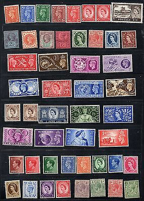 Uk Gb 1887 Collection Of 92 Mint Hinged & Never Hinged Include Q Victoria K Geor