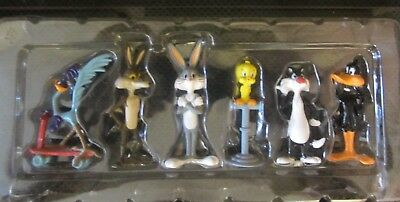"""LOONEY TUNES ALL STARS Die-cast metal figures in box ex condition 1993 approx 2"""""""