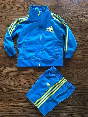 Adidas Toddlers Track Suit Blue and Yellow 18 months Style your Baby