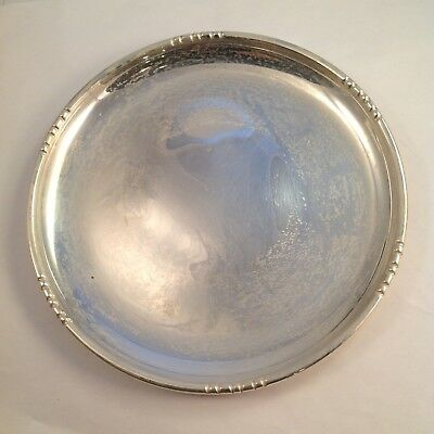 "Vintage FISHER Sterling Silver 6"" Wine Coaster Or Plate #1701. 101.3g"
