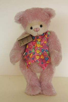 "One Of A Kind 12"" Usa Artist Bear 'my Heart For Thee'  Certicate Ginger T Brame"