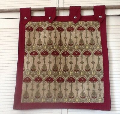 Tapestry Wall Hanging Medieval Elizabethan Gold Burgundy