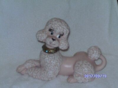 vintage Ceramic Pink Poodle Atlantic  Mold large size 1966