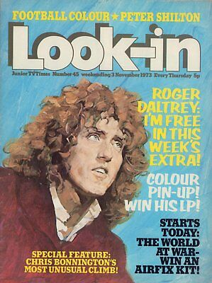 LOOK IN MAGAZINE. ISSUE 45. 3rd November 1973. The Who Double Spread.