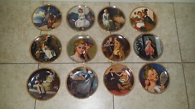 Norman Rockwell's Rediscovered Women Collector Plates 12 Plates