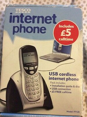 Tesco USB Cordless Internet Phone + Software Connect to PC / Laptop NEW & Boxed