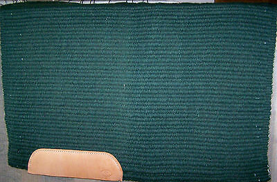 Three Feathers Wool Forest Green First Quality Show Saddle Blanket Pad 33 X 40