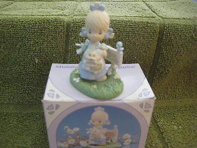 """Precious Moments """"july"""" Monthly Minature Figurine"""