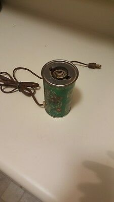 Vintage 1960's  7up Metal Soda Can Lamp - WORKS GREAT! Retro man cave lamp