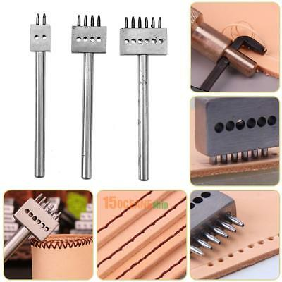 Leather Craft 1.0mm Round Row Hole Punch Stitching Cutter Tool 5mm Spacing 2/4/6
