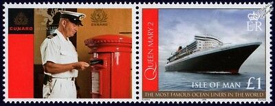 QUEEN MARY 2 (QM2) Cunard Ocean Liner Ship Stamp & Smiler 4 Royal Mail Postbox