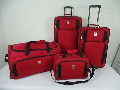 """in2it 4piece Travel Luggage sets - 26"""" Check-in + 20"""" Carry-on + Duffle + Tote"""