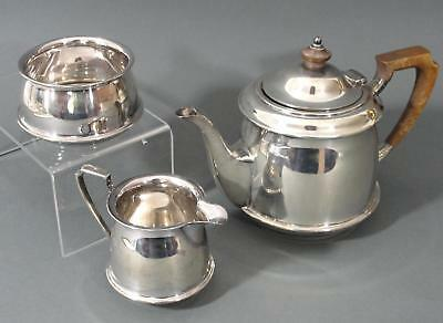 1924 Antique Sheffield English Sterling Silver Art Deco Atkins Brothers Tea Set
