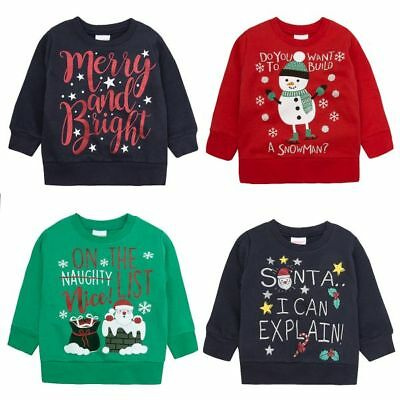 Boy & Girl Novelty Christmas Jumper Ages 2-3 3-4 4-5 & 5-6years