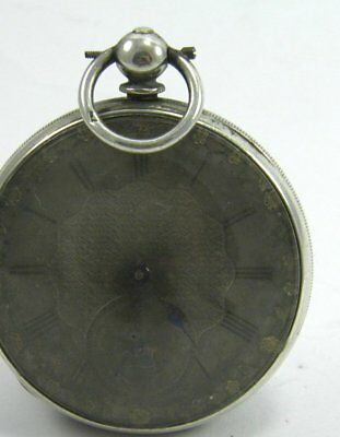 Antique 19th century Continental silver cased key wind pocket watch 7