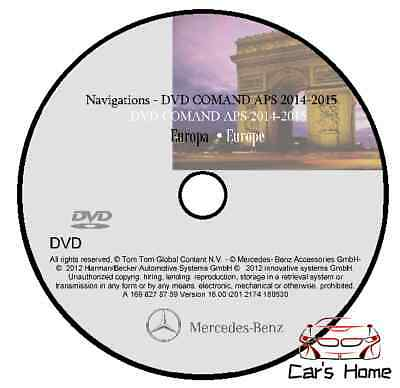 MAPPE MERCEDES COMAND APS NTG2 V.16 my 2014 - 2015 NAVIGATORE ROAD MAP DVD
