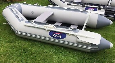 Rydal Ribs 2.3m inflatable dinghy in Grey with Dark Grey