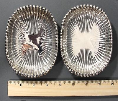 Pair Antique Gorham Sterling Silver Leamington Bathroom Soap Dish 5.56 Troy Oz