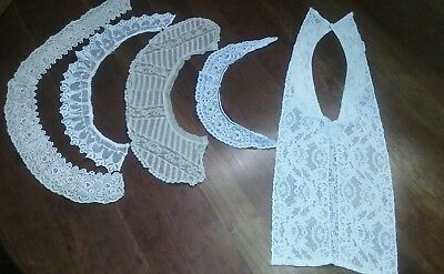 LOT of Assorted FRENCH LACE Collars ~ Trims ~ Crafts/Dolls/Sewing - NICE!