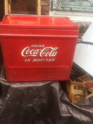 Vintage Coca Cola Cooler Ice Chest 1950s Coke