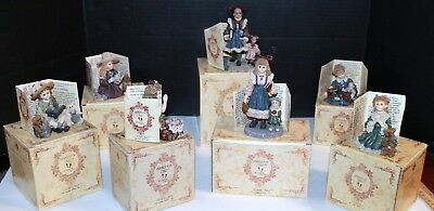Lot of 7 Yesterdays Child Figurines Boyd Bear Collectibles, original boxes