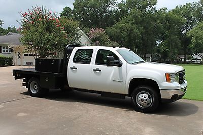 2013 GMC Sierra 3500 4WD Crew Cab Flat Bed One Owner Perfect Carfax Duramax Diesel Allison Transmission Flat Bed