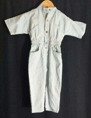 Vintage 80's Denim Jumpsuit Romper Coverall Toddler 3T