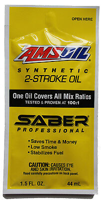 AMSOIL SABER Synthetic 2-Stroke Oil 2-Cycle Engine 100:1 Mix Gas Fuel Stabilizer