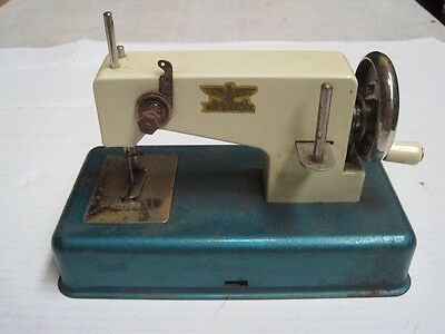 Antique old travel Casige Machine Cast Iron sewing Machine with original box