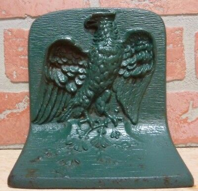 Antique Cast Iron Bradley & Hubbard Eagle Bookend signed B&H Doorstop Detailed