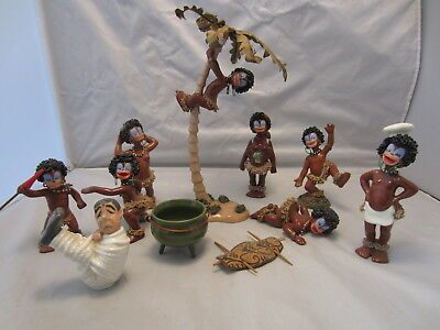 1950's 11 Pieces Irene Nye Statues With Palm Tree No Reserve