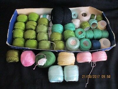 ~CROCHET THREAD x 40+ - VARIOUS COLOURS - ALL NEW or VGC - SEMCO/COATS/OTHER~