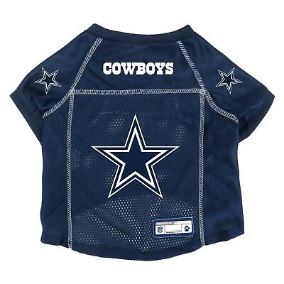 NEW DALLAS COWBOYS DOG PET PREMIUM ALTERNATE JERSEY w/NAME TAG LE