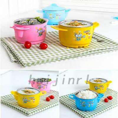 Stainless Steel Leak-proof Bowl Heat Preservation Layer For Baby Kids Children