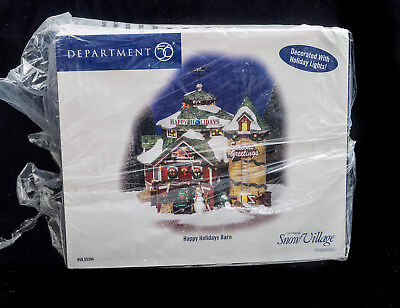 D56 Sv Happy Holidays Barn Bnib Intro 2005 Ret 2007 Retired