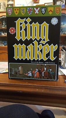 King Maker Bookcase Game by Avalon Hill 1976 Vintage Ist Edition