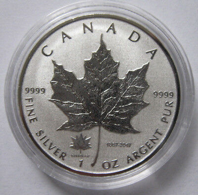 1867-2017 Canada Maple Leaf 150th Anniversary Privy RCM 1 oz Silver Coin