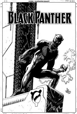 Marvel's BLACK PANTHER unpublished cover/ Art by SAL VELLUTO