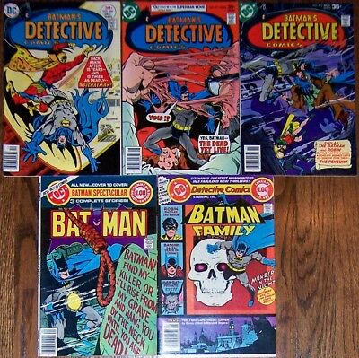 Detective Comics 467 471 473 481 DC Special Series #15 Batman by Marshall Rogers