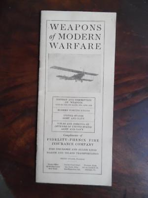 1917 Weapons Modern Warfare WWI Advertising Book Fidelity Phenix Fire Insurance