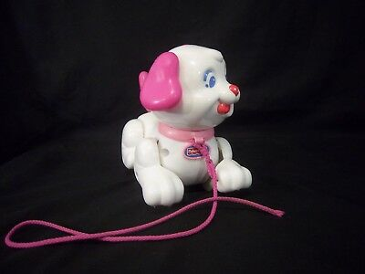 Fisher Price Pull Along Puppy Lil Snoopy Toy Pink 2005